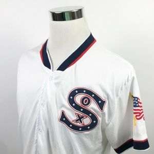 Chicago White Sox Mens Medium 4th of July Jersey